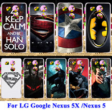 Soft TPU Hard PC Phone Cases For LG Google Nexus 5X 5 8 Nexus5X G3S G3 Mini G3 Beat S X Cam K58 Captain American Shell Cover Bag