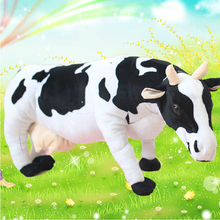 Cute Cow large simulation cow plush doll toys creative birthday gift to send girls(China)