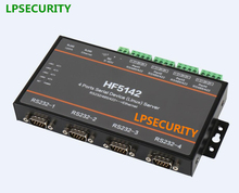 LPSECURITY 4 порта serial для enthernet RS232 RS485 RS422 к RJ45 (linux) конвертер сервер(China)