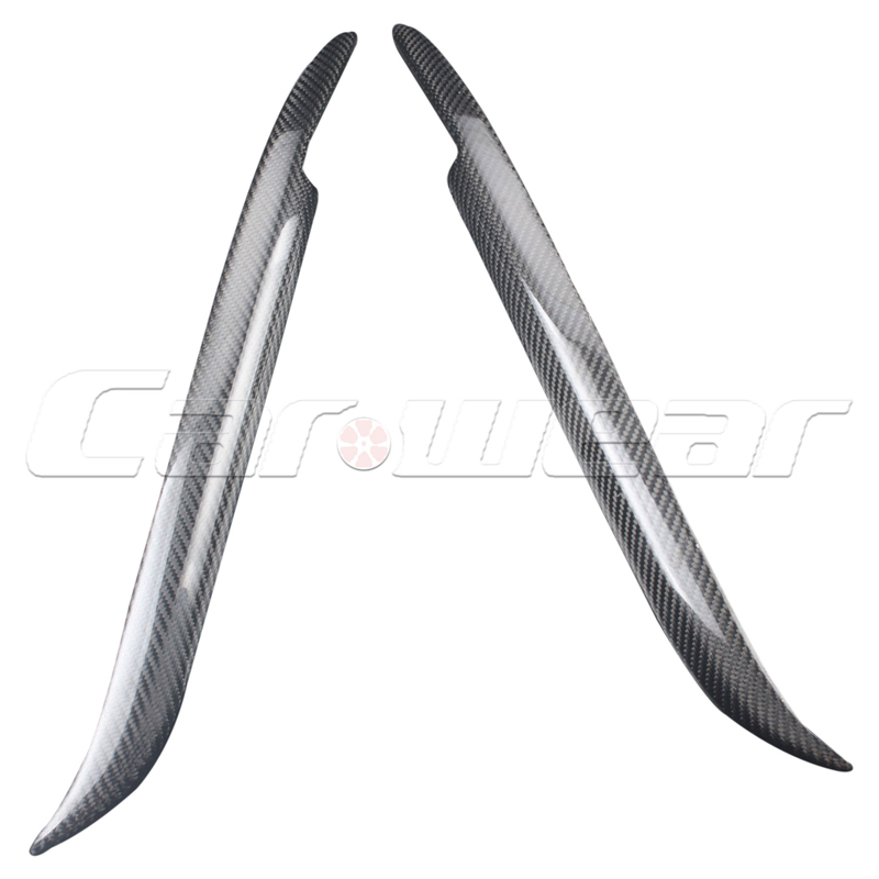 E39 Carbon Fiber Car Styling Head light Eyelids Cover Trim Sticker for BMW E39 1996-2004<br>