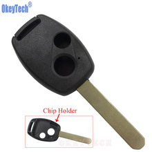 OkeyTech Modified 2 Buttons Remote Control Car Key Case Shell For Honda Accord New Fit CRV Odyssey Civic Replacement Fob Cover