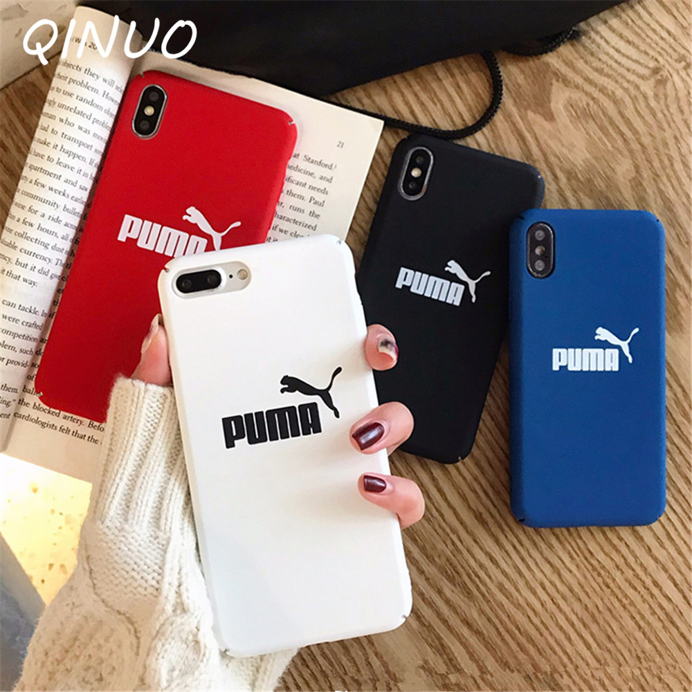 Germany Luxury Street Sport Brand Case for iphone 6 6S 7 8 Plus X XR XS Max 5 5S SE Simple Hard Cover Telefon kilifi Etui Coque(China)