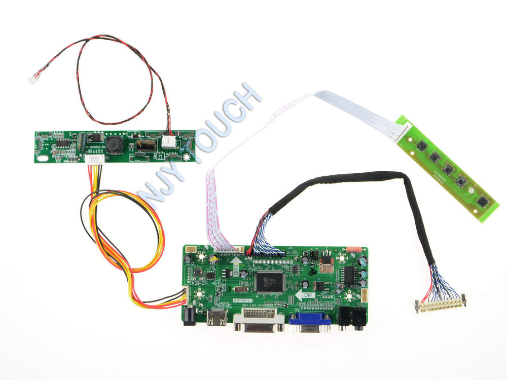Free Shipping M.NT68676.2A HDMI DVI VGA Audio LCD Controller Board Kit for 24 inch M240HTN01.2 1920X1080 HD LED raspberry pi<br>
