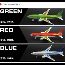 18cm Boeing 777 Airplane Model With Flashing & Musical & Pull Back Plane Model Alloy Metal Airliner Kids Toys Gifts