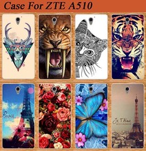 "For Zte A510 Case Cover 2017 New Arrival Diy Painted Colored Soft Tpu Case For ZTE Blade A510 A 510 5.0"" Silicone Phone Bags"