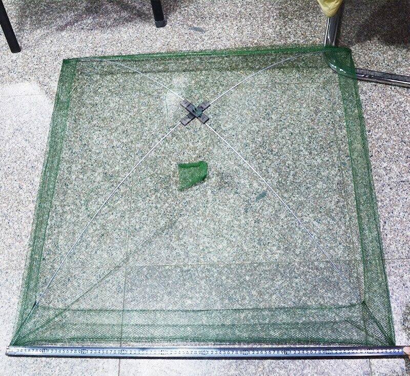 60x60cm 80x80cm 100x100cm Square Fishing Landing Net Trap Network for Catching Shrimp Crab Small Fishes Fishing Tool (8)