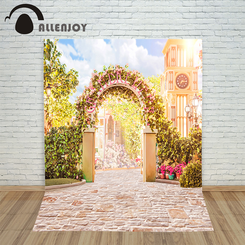 Custom size Backdrops Wedding Studio Decor Backgrounds romantic garden gate Computer Painted Vinyl Photography Backdrop<br><br>Aliexpress