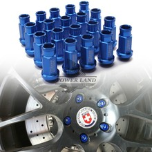 Universal Fit Hight Quality Billet Aluminum Car Styling 20pcs D1 Spec JDM Racing Wheel Lug Nuts M12X1.5 for Ford Toyota Blue