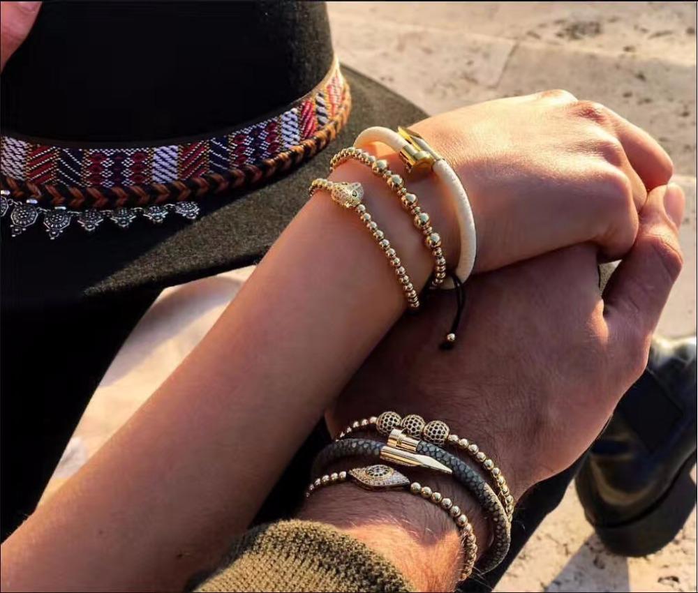couple nail bracelet