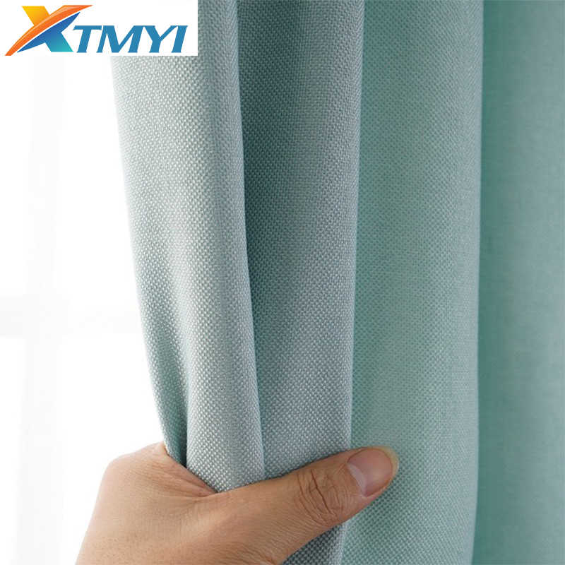 Faux Linen Blackout Curtains for Living Room Modern Solid Color Curtains for Bedroom Window Curtains for Bedroom Blinds