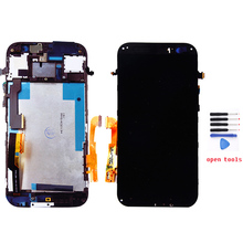 Black lcd for HTC one M8 lcd display and touch screen digitizer with frame + free tools , free shipping !!!