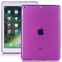 New Ultra-thin TPU Silicon Protective Clear Back Cover for iPad 9.7 inch 2017 Soft Crystal Back Case for Apple New iPad 2017 9.7(China)