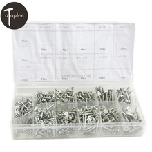 550 PCS Zinced Cover Flat Head Wood Screws Head Self Tapping Screws Brass Assortment Hardware Fasteners Screw Kit(China)