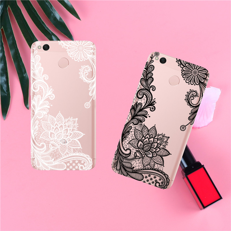 Phone Case For Xiaomi Redmi 3 3S 4A 4X 4 4S Note 3 4 4X 5A Case Back cover Black and white Narcissus