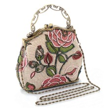 Chinese Vintage Style Moonflower Beaded Bag Old Shanghai Handbags Cheongsam Matched Bag Lady Dinner Bags 88 88 2017 Popu