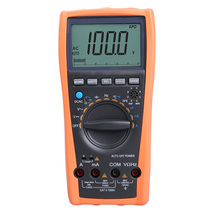 VC99 Auto Range Digital Multimeter Ammeter Voltmeter Temperature Tester Unit Symbol 61 Selection Analog Bar Display