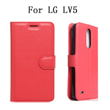 Luxury Leather Capa Caso For LG LV5 Case Stand Wallet Flip Fundas Cover For LG LV5 Case Cell Phones Coque Para Bag Factory Price(China)
