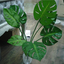 Artificial Plants 5/7 branch Turtle Leaves Palm Tree Small Bush Lifelike Monstera Leaves Real Touch 22''/30''