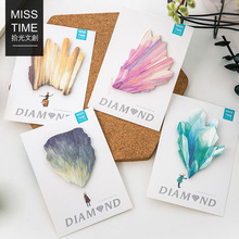 1pc Glass Self-Adhesive Memo Pad Post It Sticky Notes Bookmark School Office Supply Stationery Paper(China)