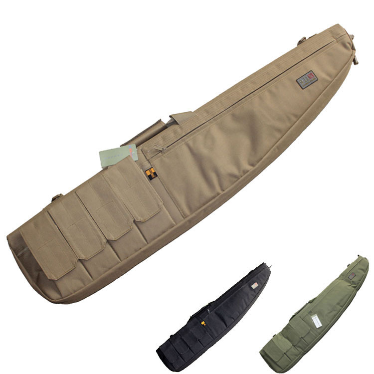 Tactical Airsoft Paintball Hunting Shooting Rifle Gun Carbine Shotgun Cushion Padded Slip Bag W/ Mag pouches Carry strap<br>