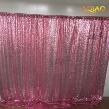 10x10FT Pink Gold/Champagne Sequin Fabric Backdrop Wedding Photo Booth Backdrops for photography studio/Party/Christmas Decor(China)
