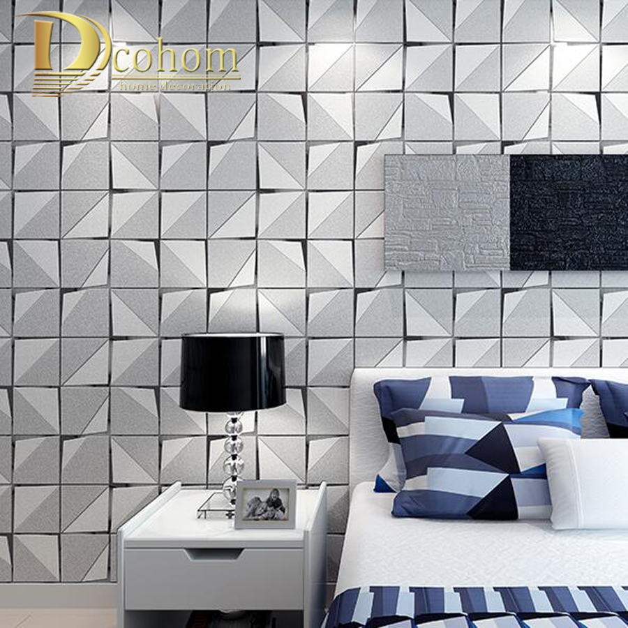 Fashion Modern 3D Wallpaper For Walls Bedroom Living room Sofa Background Decor Luxury Homes Flocked Non woven Wall paper Rolls<br>