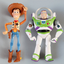 Toy Story 3 Woody Buzz Lightyear PVC Action Figure Toys Boxed Child Toy Christmas Gift(China)