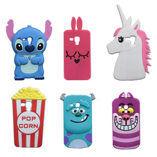 S3 mini Cute Rabbit Soft Case For Samsung Galaxy S3 mini i8190 Cover Stitch Horse Sulley Cat Phone Bags(China)