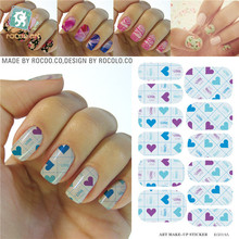 Nail sticker water Transfer Foils Stickers Love Heart Painted Designs Fingernails nail art stickers Decorations Tools Patches