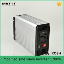 MKM1200-241G dc ac modified sine wave 24v to 110v 1200W industrial power inverters solar off grid inverter manufacturers