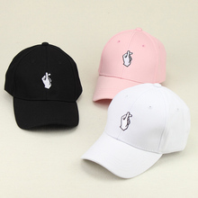 Unisex Baseball Caps Heart-shaped gestures 3 color Golf hat printed Youth Letter Embroidery Hats Casual Snapback cap Aug9