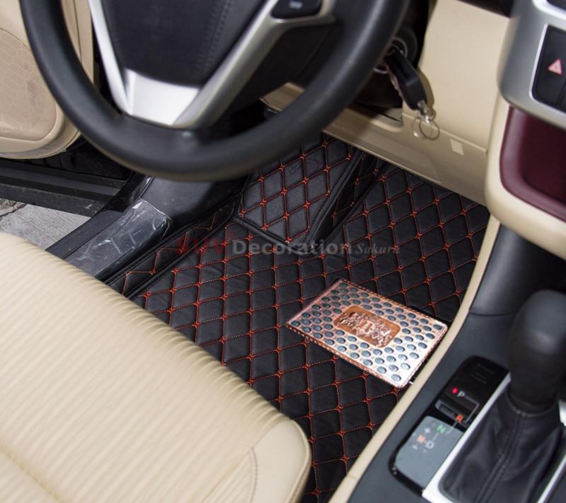 For Toyota Highlander 7 Seats XU40 2008 - 2014 Interior Floor Mats Foot Pad Inner Auto Leather Carpet <br><br>Aliexpress