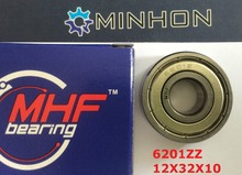Free Shipping 1pc per lot 6201ZZ 6201 MHF ABEC-3 Skate Bicycle Miniature Bearings Size 12x32x10 mm best Price High Performance