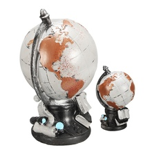 Vintage American Style World Globe Ornaments Globe Map of Earth Geography Study Tool Cafe Bookcase Desktop Decoration