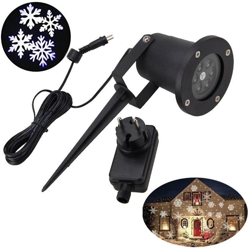 LED Moving Snowflake Landscape Laser Projector Lamp Xmas Garden Light<br>