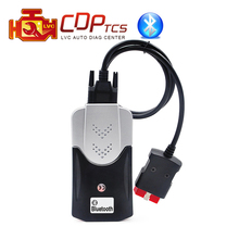 CDP TCS pro new case bluetooth plus LED cable 2015.R3 keygen software OBD 2 auto scanner cars trucks OBDII OBD2 diagnostic tool(China)