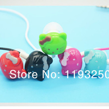 New High Quality Cartoon Earphone 3.5mm Piston Headset Cute Hello Kitty Stereo Headphone For MP3 Player & Mobile Phone