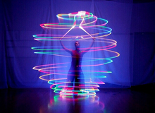 200PCS LED Belly Dance Props Led Poi Thrown Balls Accessories Special Props Light Shine Night Club Performances Stage