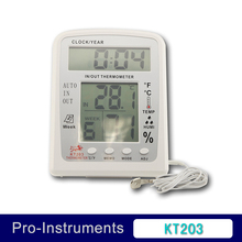 in/out Thermometer Clock Thermo Hygro Meter