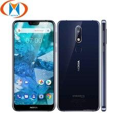 "Global Version 5.84"" Nokia 7.1 TA-1085 Mobile Phone 4G LTE Snapdragon 636 4GB RAM 64GB ROM Octa core Fingerprint NFC Smartphone"