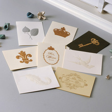 Vintage Crown,Dove,Key,Feather,Butterfly,Thank You Cards Exquisite Embossed Business Greeting Cards