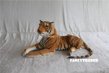 Fancytrader As Real! High Quality Tiger Toy 39'' 100cm Giant Soft Plush Stuffed Emulational Tiger Gift Free Shipping FT90280