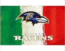 3x5ft Green white red Stripes Baltimore Ravens flag new style oil painting style flag with 2 Metal Grommets 90x150cm(China)