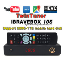 1 Year IPTV Subscription+ Satellite Receiver H.265 Full HD Two DVB-S2 Tuner Cccam Include 1300+ Arabic Europe Live TV Channels(China)