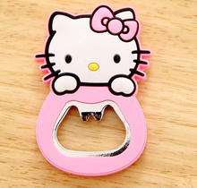Kawaii Cartoon Opener , NEW Hello Kitty , Size 6*4CM Beer Bottle Opener , Home Opener Helper ; Stainless Steel Opener(China)