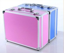 Aluminum Makeup Box with Lights Small Portable beauty Box with LED Lights personal care dedicated