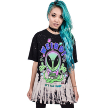 New Women's Streetwear Colorful Alien Digital Printing T-Shirt Fashional Quick-drying Short Sleeve Loose Milk Silk Tops(China)
