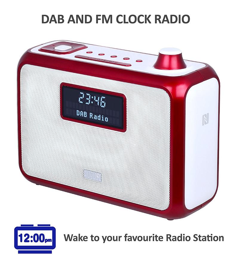 August MB400 Portable DAB and FM Clock Radio