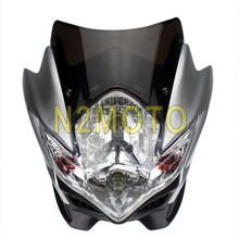 Motorcycle Head Light Silver Streetfighter Smoke Headlight Fairing Street Fighter Front Lamp for Suzuki Honda