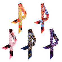 Bright Color Style Twill Satin Scarf Women Skinny Scarf Hair Band Bag Handle Decoration High Quality